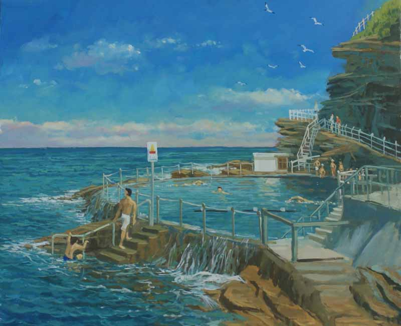 The sea pool ,Bronte beach ,Sydney