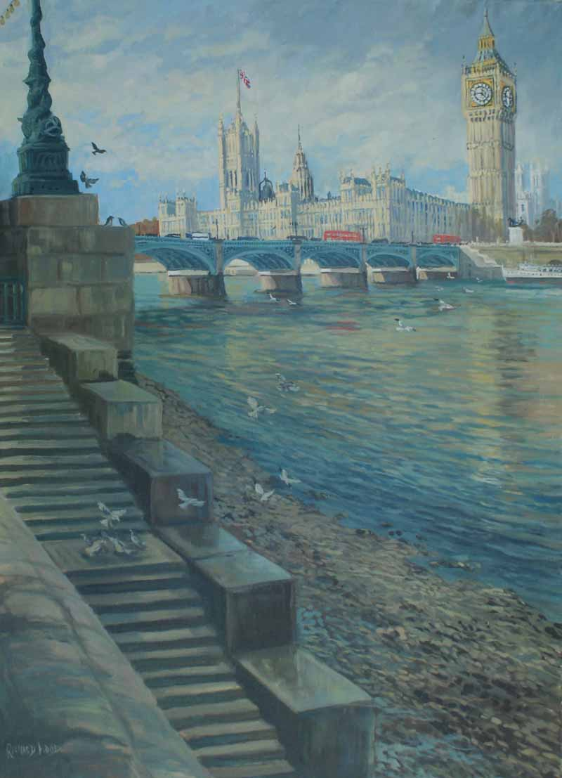 Winter view of Westminster,London