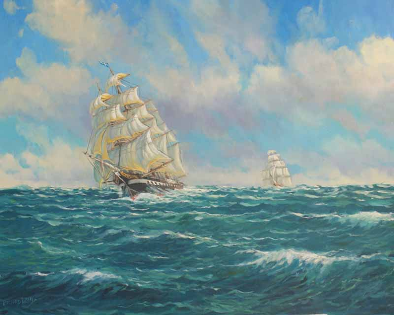 Sailing in heavy seas