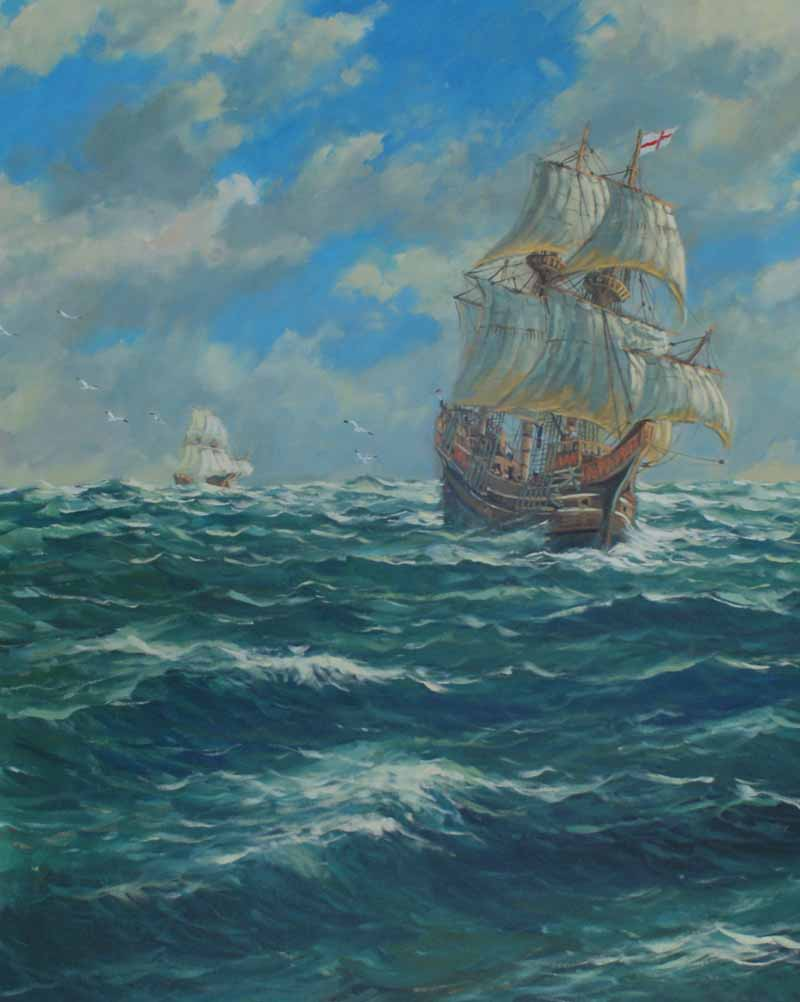 The Mayflower,the Atlantic crossing 1620