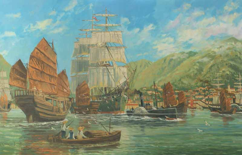 Hong Kong harbour, 1860