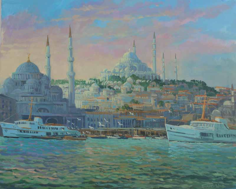 Dawn ,Istanbul Harbour